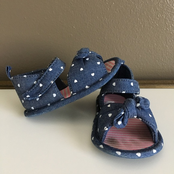 edf10f278909 Carter s Other - 🆕Carter s Chambray Heart Sandal - Size 3 6 months